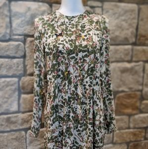 NWT H&M Green/Pink Floral Dress Size 2